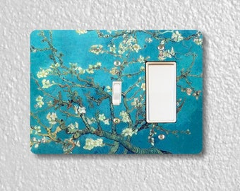 Almond Branches Van Gogh Painting Toggle and Decora Rocker Double Switch Plate Cover