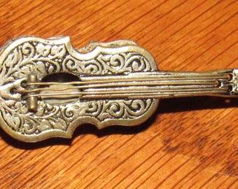 Vintage Guitar Brooch, Made in Spain