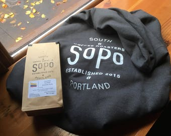 FREE SHIPPING SoPo Coffee Full Zip Hoodie