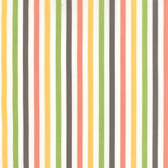 Corey Yoder Little Miss Shabby White Prairie Stripe Quilt Fabric. 29006-11