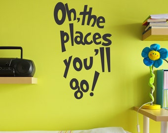 Oh, the Places You'll Go wall decal