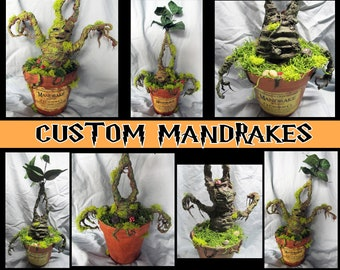 "Harry Potter Handmade Custom High Quality ""Adult"" Mandrake Plant - Choose from 4 different Mandrakes"