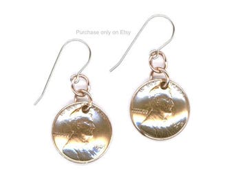 70th Birthday Gift Ideas Jewelry 1948 Dangle Metalwork Penny Coins Earrings for Women Sisters Friends Mothers