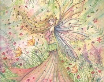 Fairy Print - Summer - Archival Fine Art Giclee Print 12 x 16