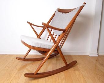 Danish Modern Rocking Lounge Chair - Frank Reenskaug for Bramin Mid-Century Rocker