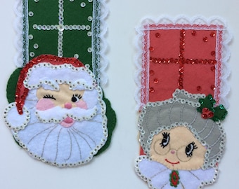 Felt Mr. and Mrs. Santa