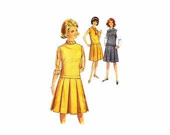 1960s Teens Blouse Jumper or Dress Simplicity 5161 Vintage Sewing Pattern Size 12 Bust 32