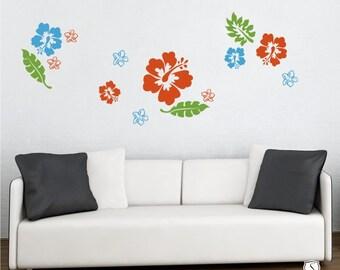 Hibiscus Wall Decal Kit Flowers Custom Home Decor