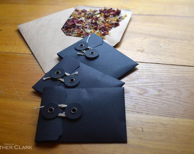 Herb Packed Pocket Sized Spell Envelopes: Banish Negativity