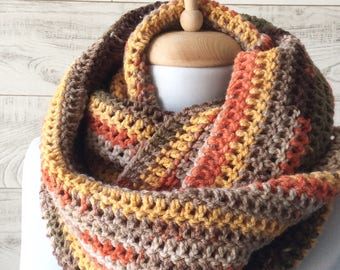 Knitted scarf chunky scarf knit scarf knit cowl knit scarf infinity scarf gifts for him FAST DELIVERY