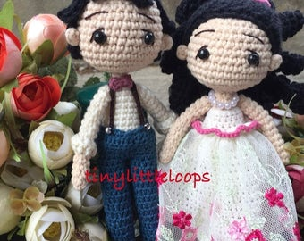 Bride and Groom Crochet doll, Wedding couple doll, Wedding crochet Amigurumi doll, Cute crochet doll, wedding gift