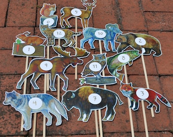 Wedding Animal Table Numbers / Party Table Numbers