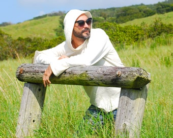 Hoodie for Men in Organic Cotton Hemp Jersey -  Eco Friendly - Sustainable - Organic Clothing