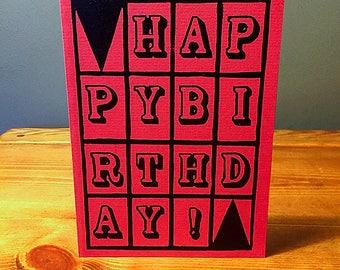 Happy Birthday Card Pink