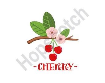 Cherries - Machine Embroidery Design, Cherry Blossoms