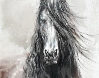 Yuanjian Wang 242 Horse 35x47