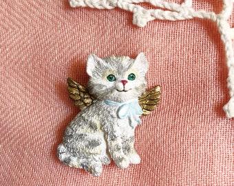 Angel Kitten Brooch - Ceramic