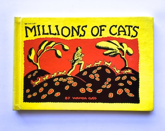 Vintage 1920's Classic Children's Book - Millions of Cats - written and illustrated by Wanda Gag - Newbery Honor Book