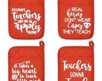 Pot holders - Teacher Appreciation -Custom pot holders- Christmas gifts-