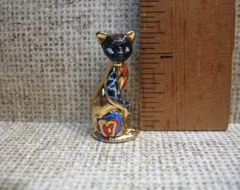 Pop Art CATS Cat Hand Painted Porcelain  - French Feve Feves Doll House Figurines Miniatures X18