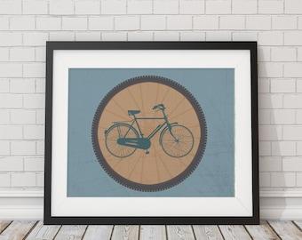Bike In a Wheel Print 8x10, 11x14, 13x19