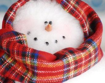 Whimsical Sherpa Snowman, Mrs. Frostie Snowman, Standing Snowman, Handmade Snowman, Frosty Snowman