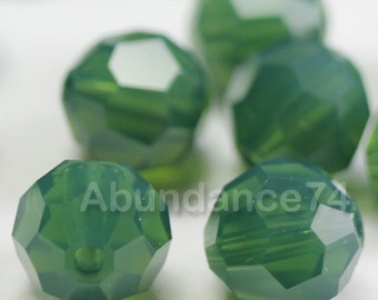 Swarovski Elements Crystal Beads 5000 Round Ball Beads PALACE GREEN OPAL - Available in 6mm ,7mm and 8mm