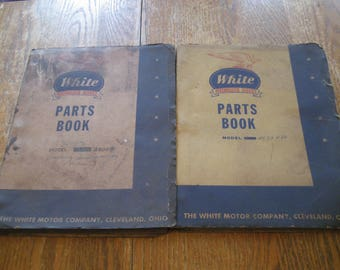 1950's White Motor Company Truck Parts Book Catalog Manuals, Lot of 2