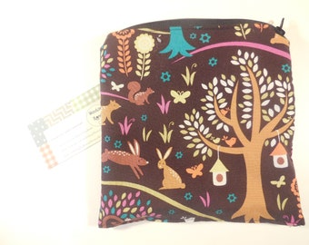 Forest animals snack or sandwich bag