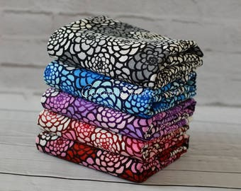 Japanese Fabric Set Chrysanthemum Yardage Set Japanese Modern Kimono Print Floral Fabric Cosmo Textile