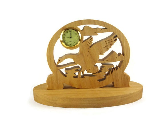 Goose Mini Desk Clock Handcrafted from Maple Wood By KevsKrafts Woodworking