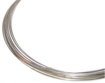 1mm Silver Necklace Memory Wire - 10 Spirals