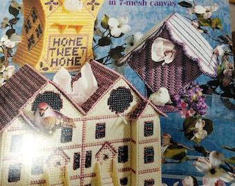 Plastic Canvas - Birdhouse Tissue Boxes