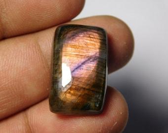 A++ Very Rare! Purple Labradorite Spectrolite Cabochon, Gorgeous Purple color Flasy Fire Labradorite Spectrolite Gemstone 27Cts. (23X14)mm