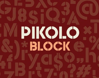 Pikolo Block Font