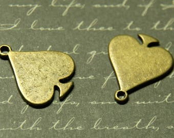 2 charms sting color bronze 23x19mm