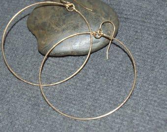 gold dangle hoop earrings, gold drop hoop earrings, minimalist earrings, everyday earrings, gold boho earrings, gold circle earrings