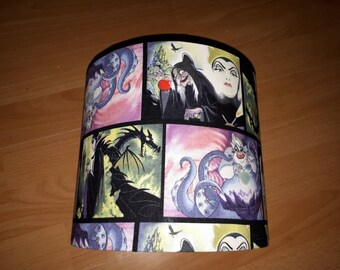 SECONDS Disney villians light shade. Ursula, snow white, maleficent