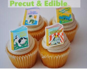 24 Little Golden Books Cupcake Topper, Goden Books, Birthday Cupcake Topper, golden books, wafer paper cupcake topper, wafer paper