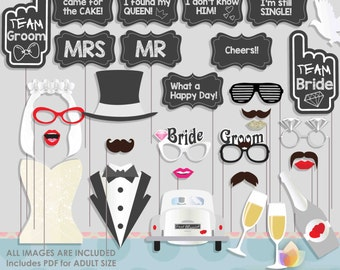 Dream Wedding Photo Booth Props