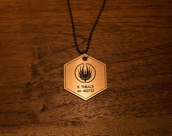 Battlestar Galactica Kara Thrace Dog Tag Necklace - Starbuck Apollo Adama Tigh Pegasus Cylon Viper Colonial Gaius Boomer Helo Cosplay Raider