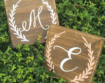 Wood letter signs