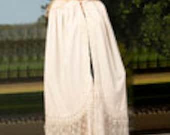 Snow White ArtDeco DeLuxe Vintage Velvet&Silk Boho Cape
