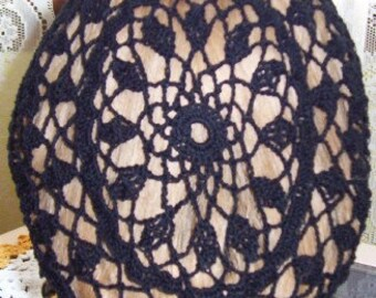 Wheat Cluster Fancy Hair Snood in Cotton- Regular Length