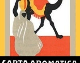 Italian Aromatic Paper - Carta aromatica d'eritrea - FREE SHIPPING Worldwide