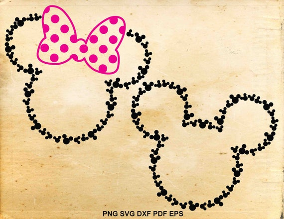 Mickey mouse Minnie mouse svg design Disney silhouette svg