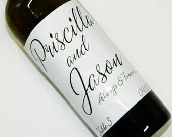 TABLE NUMBERS 1-10 -  Personalized Custom Wine Labels  - For Weddings, Anniversaries, Or Any Special Occasion