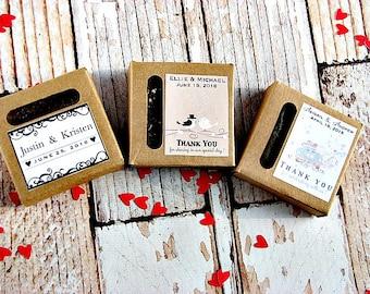 Custom Soap - Wedding Favor Soap - Guest Soaps - Mini Soap Favors - Wedding Soap -  Mini Soap - Personalized Soap Favor - Party Favor Soap