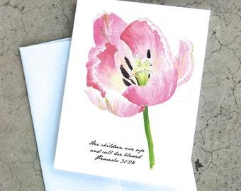 Proverbs Tulip Card
