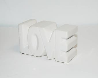 LOVE Ceramic Retro Sculpture